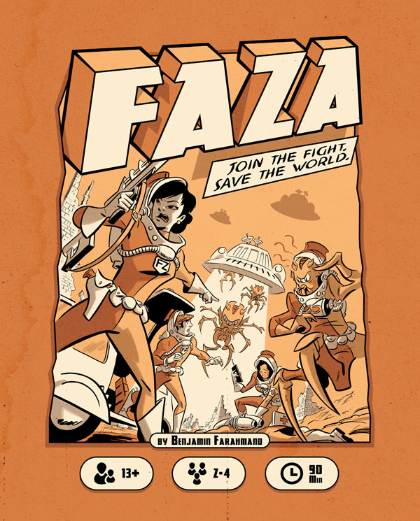 Front cover of FAZA rulebook.