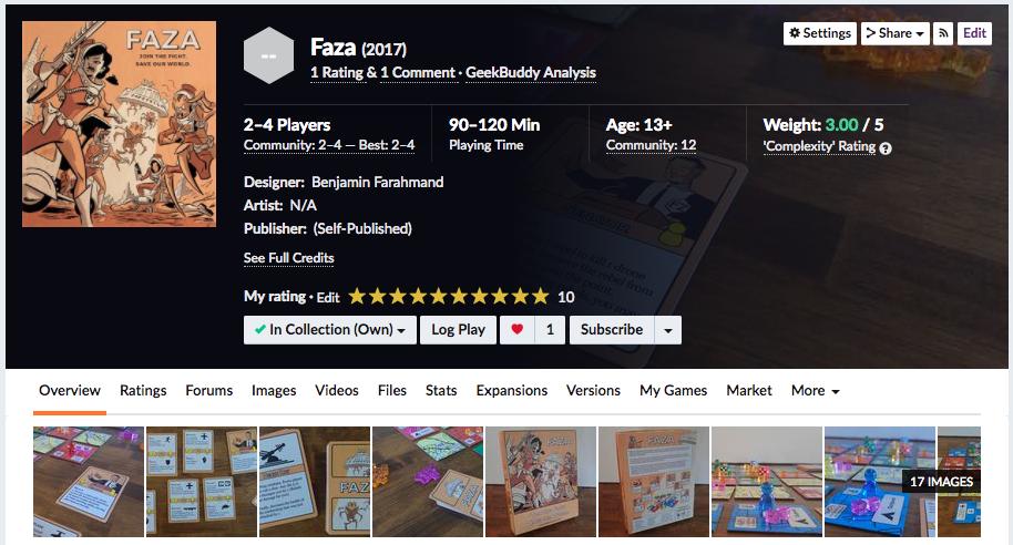 Faza on Board Game Geek